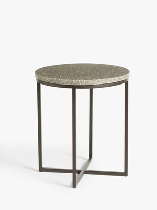 House by John Lewis Rayna Terrazzo Large Side Table, Pink/Grey