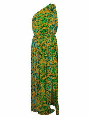 Versace Ravanello St. Leo Chain One-shoulder Dress