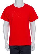 Thumbnail for your product : Amiri Red Cotton Crewneck Shotgun T-Shirt XS
