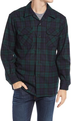 Pendleton Plaid Wool Flannel Button-Up Board Shirt