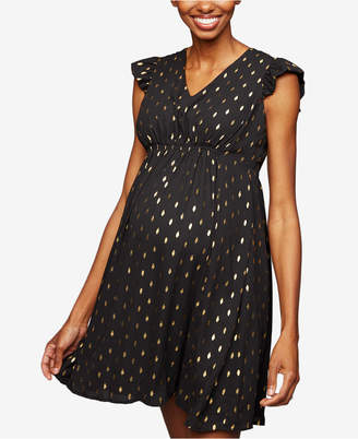 A Pea in the Pod Collective Concepts Maternity Dress, Short Sleeve Keyhole Detail