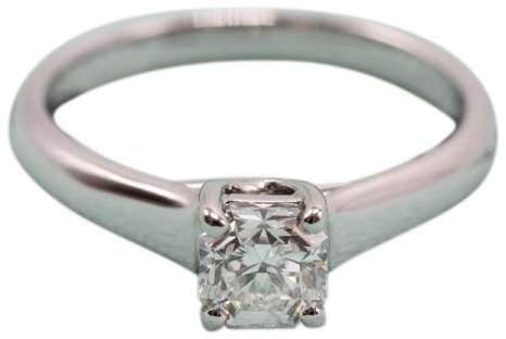 Tiffany & Co. Lucida Platinum 0.53ct Diamond Ring Size 5.0