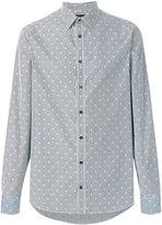 Alexander McQueen striped skull print shirt - men - Cotton - 14 1/2