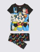 Marks and Spencer Pure Cotton DC Superheroes Print Pyjamas (6-16 Years)