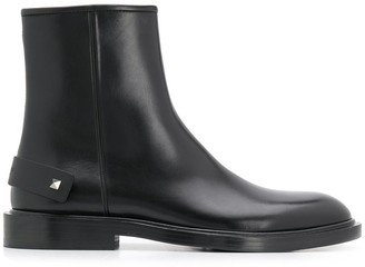 Valentino Smooth Ankle Boots