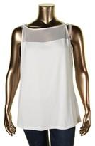 Lauren Ralph Lauren Womens Plus Sleeveless Illusion Tank Top