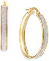 Macy's Glitter Hoop Earrings in 14k Gold (20mm)