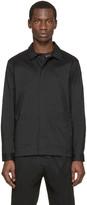 Christopher Kane Black Stretch Poplin Jacket