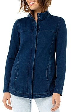 Liverpool Los Angeles Denim Zip-Front Jacket