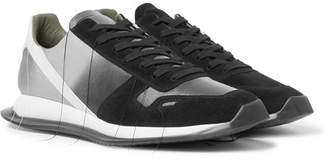 Rick Owens New Vintage Runner Degrade Suede And Leather Sneakers