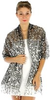 Sheer Delights Sheer-Delights Sequin Evening Wrap Shawl for Prom Wedding Formal