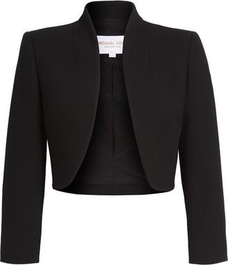 Michael Kors Stretch Wool Boucle Crepe Bolero Jacket