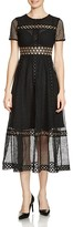 Maje Rome Lace-Overlay Dress