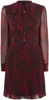 Karen Millen Leopard Print Shirt Dress - Red/multi
