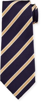Isaia Men's Diagonal Stripe Silk Tie