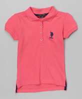 U.S. Polo Assn. Coral Polo - Girls