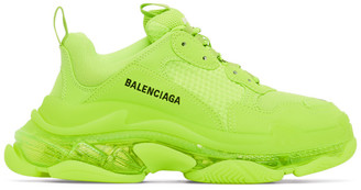 Balenciaga Yellow Triple S Sneakers