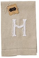 Mud Pie French Knot H Initial Towel Fingertip