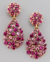 Oscar de la Renta Multi-Stone Teardrop Earrings, Fuchsia