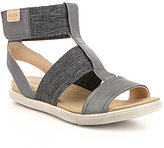 Ecco Damara Leather Banded T-Strap Flat Sandals