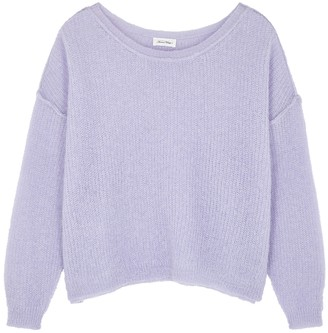American Vintage Zazow lilac open-knit jumper
