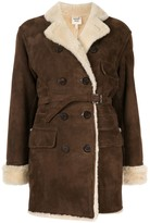 Hermes Pre-Owned Shearling Double Breasted Coat