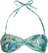 Mara Hoffman Leaf-print twist-front bandeau bikini top