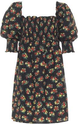 Rixo Brenda floral linen minidress