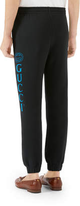 Gucci Men's Drawstring Sweatpants with Logo Print