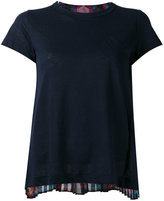 Sacai crochet lace printed T-shirt - women - Cotton/Linen/Flax/Polyester - 1