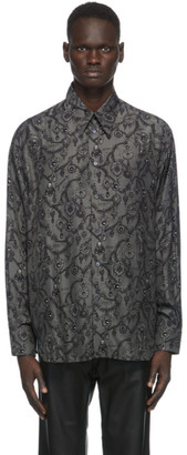 Givenchy Grey and Black Jewelry Print Shirt