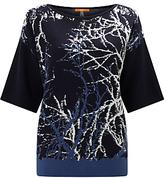 HUGO BOSS BOSS Orange Izana Knitted Jacquard Jumper, Dark Blue