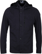 Cp Company Navy Hooded Overshirt