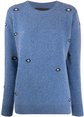 The Elder Statesman Eye-Embroidered Cashmere Jumper