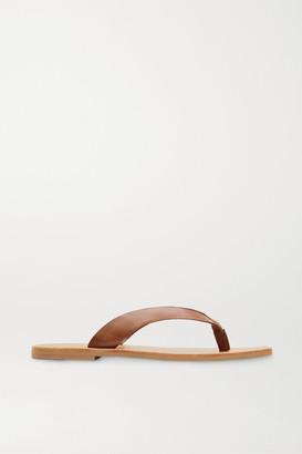 ST. AGNI Basik Leather Flip Flops - Tan