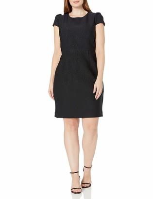 Betsey Johnson Women's Plus Size Embossed Midi Dress
