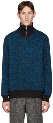 Paul Smith Cheetah Zip Sweater