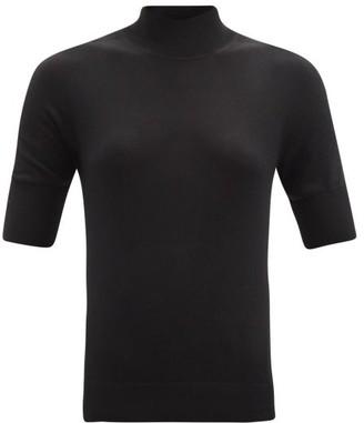 Jil Sander Roll-neck Cashmere-blend Sweater - Black