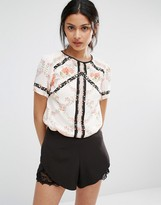 Oasis Printed Blouse