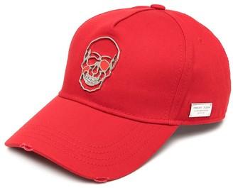 Philipp Plein Skull-plaque baseball cap