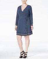MICHAEL Michael Kors Size Border-Print Wrap Dress