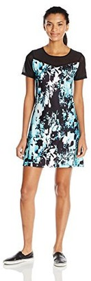 Nanette Lepore Play Women's Spliced Floral Zip Up Printed Dress M