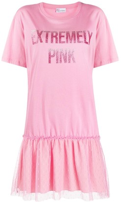 RED Valentino Extremely Pink print dress