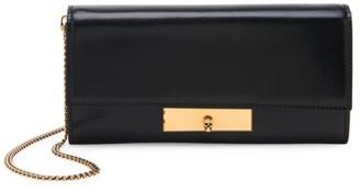 Alexander McQueen Skull Lock Leather Wallet-On-Chain
