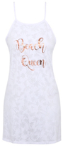 George Beach Queen Slogan Cover Up Dress