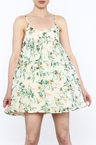 Hommage Floral Printed Sleeveless Dress
