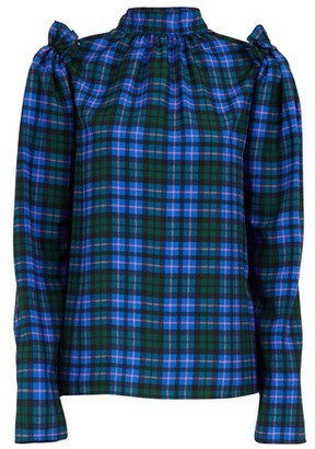 MSGM Plaid long-sleeved top