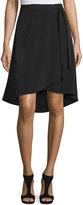 Bobeau Johan Faux-Wrap Skirt, Black