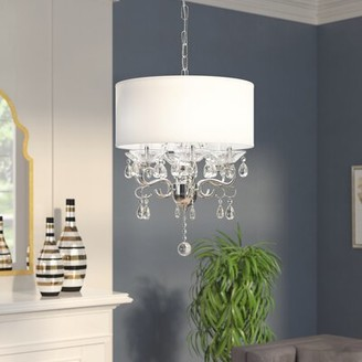 House of Hampton Emely 6 - Light Candle Style Drum Pendant with Crystal Accents