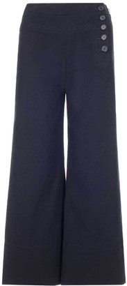 Chloé Flared Side Button Trousers